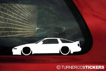 2x Low car outline stickers Toyota Supra Mk3 3.0 Turbo (A70) JDM